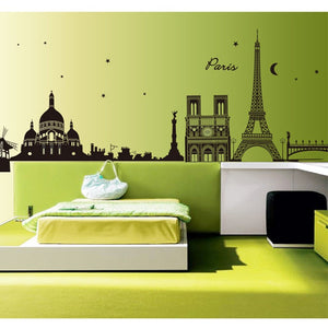 Paris Eiffel Tower Wall Sticker Removable Art  Decal