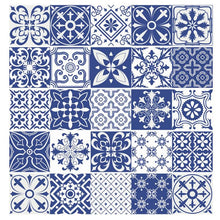 Load image into Gallery viewer, Mediterranean Floral Tile Stickers For Kitchen or Bathroom, DORM DECOR, First Apartment