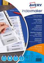 Load image into Gallery viewer, Avery Indexmaker 12 Part Divider Clear Tab Labels 1816061