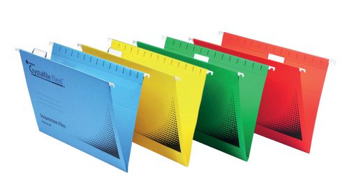Rexel Suspension Flexifile Foolscap Red PK50