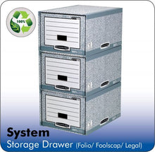 Load image into Gallery viewer, Fellowes Bankers Box System A4 Storage Drawer Grey PK5