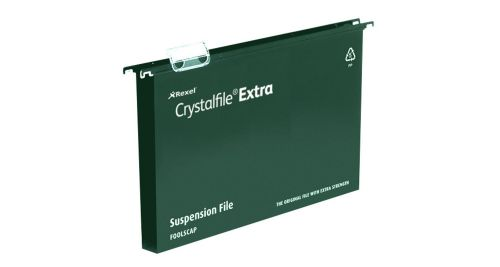 Twinlock Crystalfile Extra PP Susp File A4 30mm GN BX25