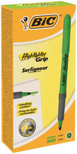 Load image into Gallery viewer, Bic Highlighter Grip Green PK12