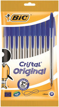 Load image into Gallery viewer, Bic Cristal Medium Blue PK10