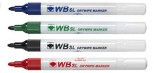 Load image into Gallery viewer, Value Drywipe Marker Bullet Tip Assorted PK10