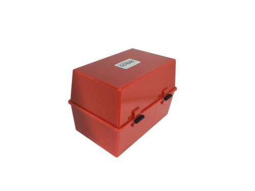 Value Deflecto Card Index Box 8x5 Red
