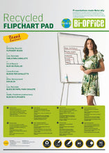 Load image into Gallery viewer, Bi-Office Earth Flipchart Pad  Plain  40 sheets 55 GSM