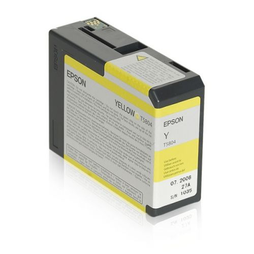 Epson C13T580400 T5804 Yellow Ink 80ml