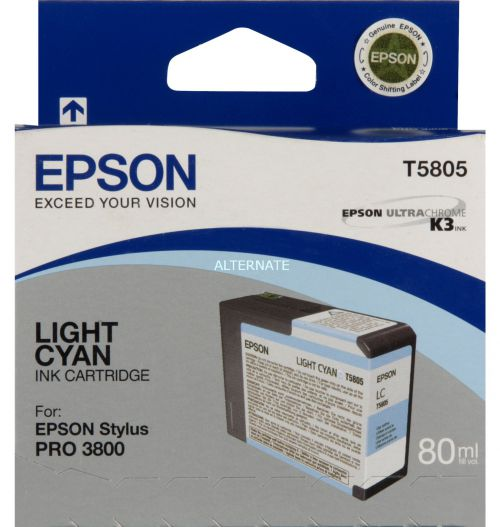 Epson C13T580500 T5805 Light Cyan Ink 80ml