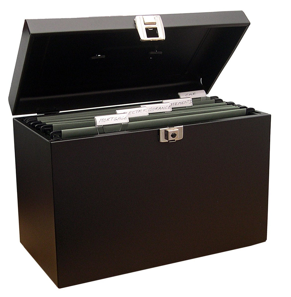Cathedral A4BK Value Metal File Box A4 Black