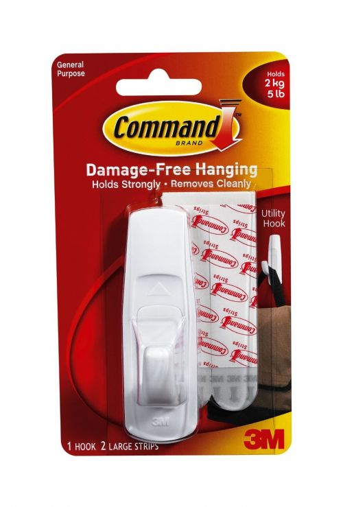 3M Command Adhesive Large Hook 17003