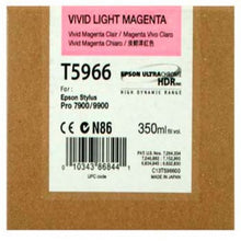 Load image into Gallery viewer, Epson C13T596600 T5966 Vivid Light Magenta Ink 350ml