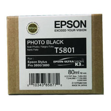 Load image into Gallery viewer, Epson C13T580100 T5801 Black Ink 80ml