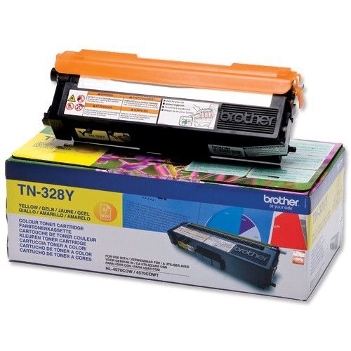 Brother TN328Y Yellow Toner 6K