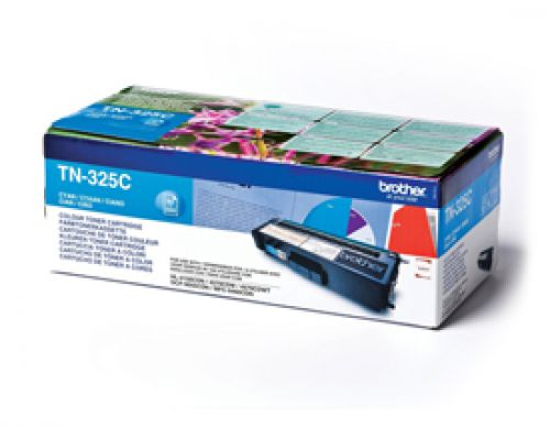 Brother TN325C Original Cyan Toner Cartridge (3500 pages)