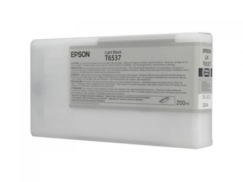 Epson C13T653700 T6537 Light Black Ink 200ml