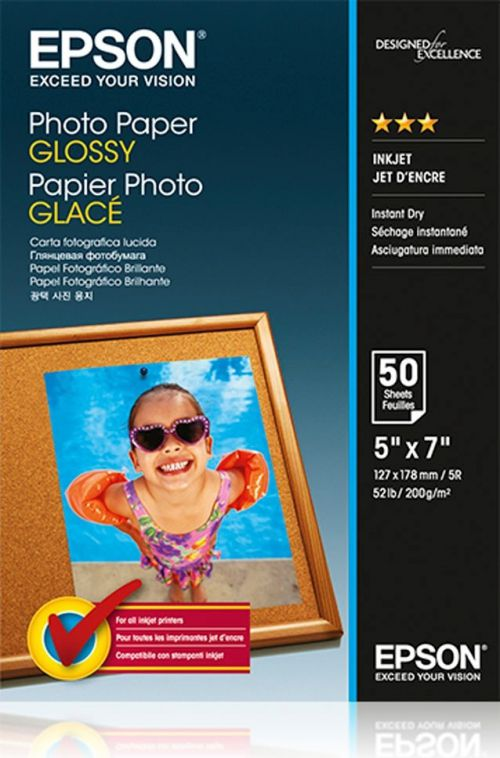 Epson C13S042545 Glossy Photo Paper 13x18cm 50 Sheets