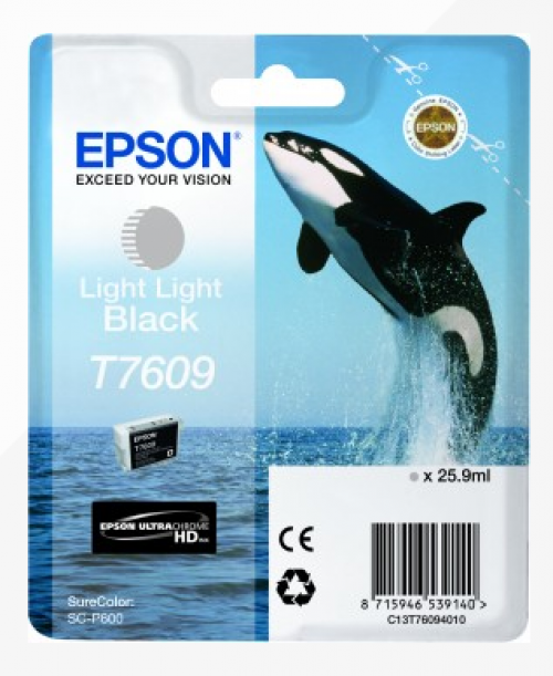 Epson C13T6094010 T7609 Light Light Black Ink 26ml