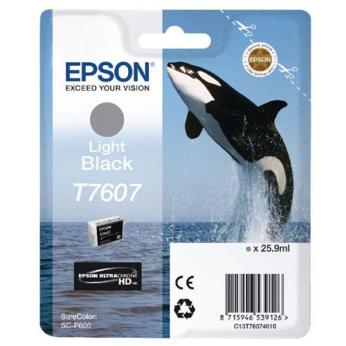 Epson C13T6074010 T7607 Light Black Ink 26ml