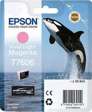 Load image into Gallery viewer, Epson C13T6064010 T7606 Vivid Light Magenta Ink 26ml