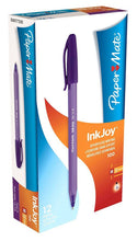 Load image into Gallery viewer, Paper Mate InkJoy 100 CAP Ball Pen Medium Tip Purple PK12