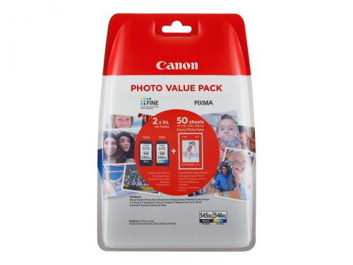 Canon 8286B006 PG545XL CL546XL Ink Paper Multipack