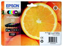 Load image into Gallery viewer, Epson C13T33374012 33 Black Colour Ink 6ml 4x4.5ml Multi