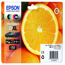 Load image into Gallery viewer, Epson C13T33574012 33XL Black Colour Ink 12ml 8ml 4x9ml