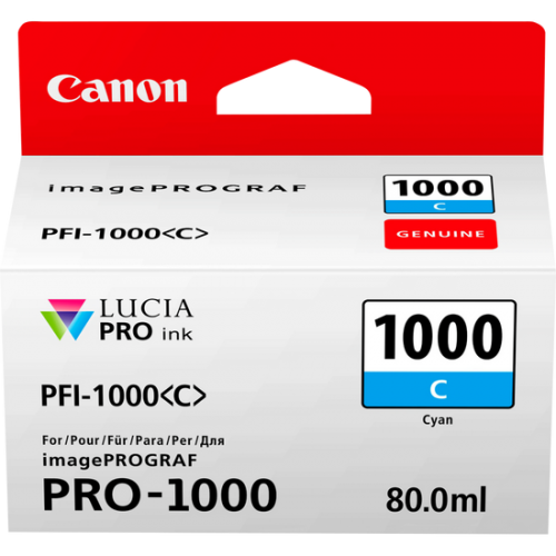 Canon 0547C001 PFI1000 Cyan Ink 80ml
