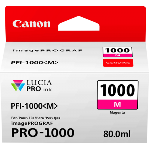 Canon 0548C001 PFI1000 Magenta Ink 80ml