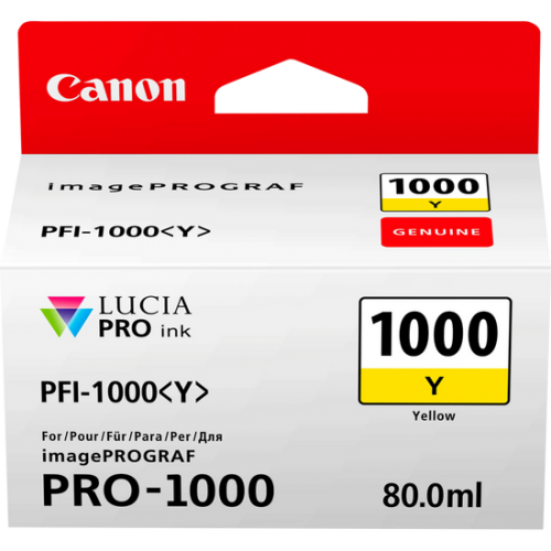 Canon 0549C001 PFI1000 Yellow Ink 80ml