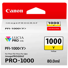 Load image into Gallery viewer, Canon 0549C001 PFI1000 Yellow Ink 80ml