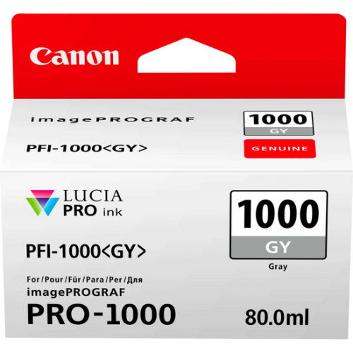 Canon 0552C001 PFI1000 Grey Ink 80ml
