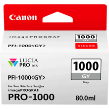 Load image into Gallery viewer, Canon 0552C001 PFI1000 Grey Ink 80ml