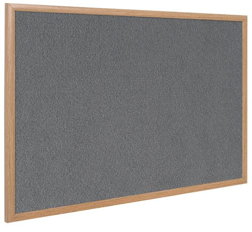 Bi-Office Earth-It Exec Grey Felt Ntcbrd Oak Frme 90x60cm