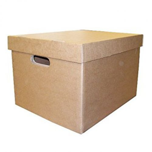 LSM Archive/Storage Box & Lid 405x337x285mm Brown PK10