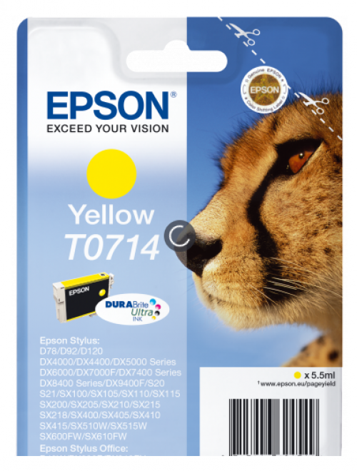 Epson C13T07144012 T0714 Yellow Ink 6ml