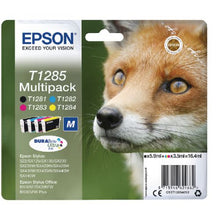 Load image into Gallery viewer, Epson C13T12854012 T1285 Black Colour Ink 6ml 3x3.5ml Multi