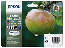 Load image into Gallery viewer, Epson C13T12954012 T1295 Black Colour Ink 11ml 3x7ml Multi