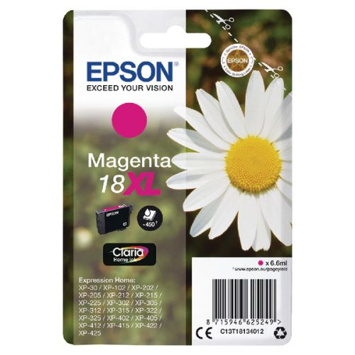 Epson C13T18134012 18XL Magenta Ink 7ml