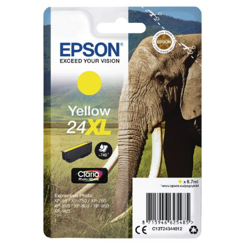 Epson C13T24344012 24XL Yellow Ink 9ml