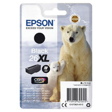 Load image into Gallery viewer, Epson C13T26214012 26XL Black Ink 12ml