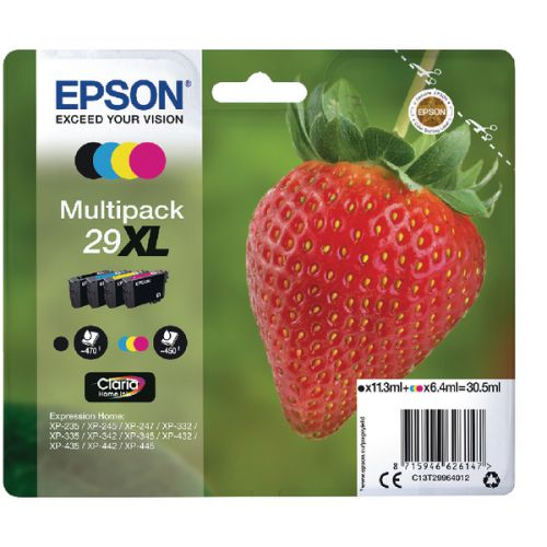 Epson C13T29964012 29XL Black Colour Ink 11ml 3x6ml Multi