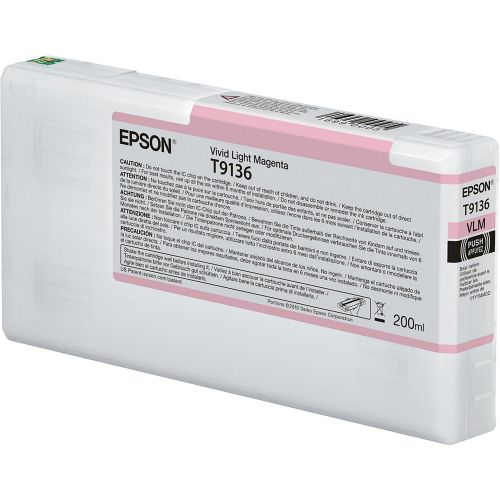 Epson C13T913600 T9136 Vivid Light Magenta Ink 200ml