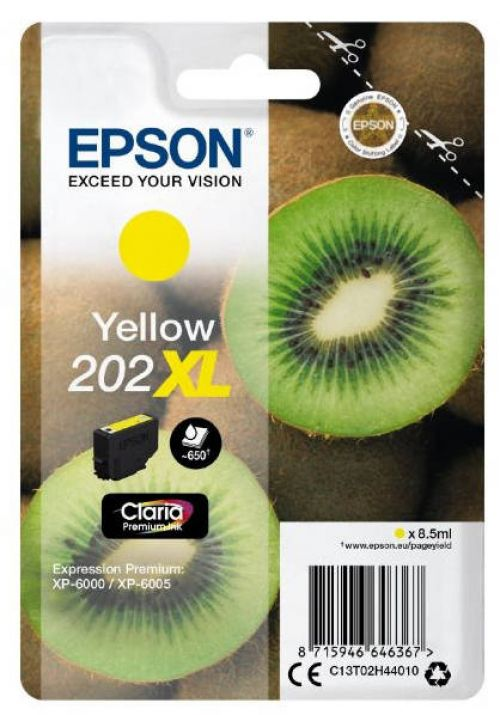 Epson C13T02H44010 202XL Yellow Ink 8.5ml