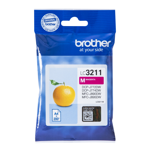 Brother LC3211M Original Magenta Ink Cartridge (200 pages)