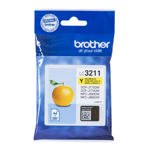 Brother LC3211Y Yellow Ink 12ml