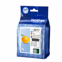 Load image into Gallery viewer, Brother LC3211VAL Black Colour Ink 15ml 3x12ml Multipack