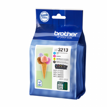 Load image into Gallery viewer, Brother LC3213VAL Black Colour Ink 15ml 3x10ml Multipack
