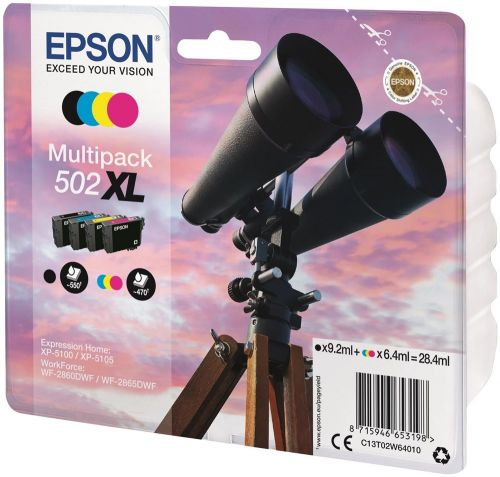 Epson C13T02W64010 502XL Black Colour Ink 28ml Multipack